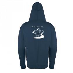 Sweat-shirt zippé homme/femme